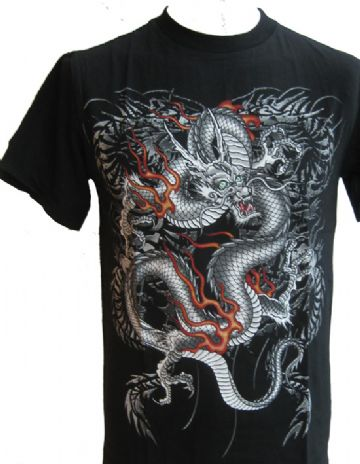 The Silver Dragon T Shirt With Large Back Print